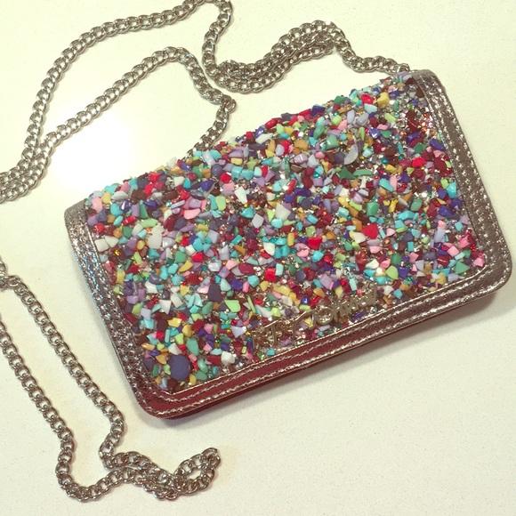 171e7eac1a0a BRAND NEW betsy johnson rock candy glitter purse NWT